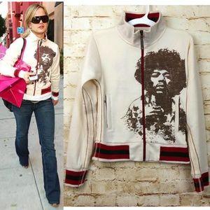 Trunk LTD Jimi Hendrix Zip Track Jacket Ivory Rare